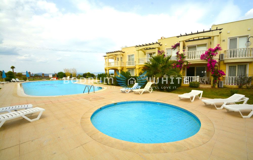 Bodrum Flamingo 2 Bed Seaview Garden Pool Apartment for Sale
