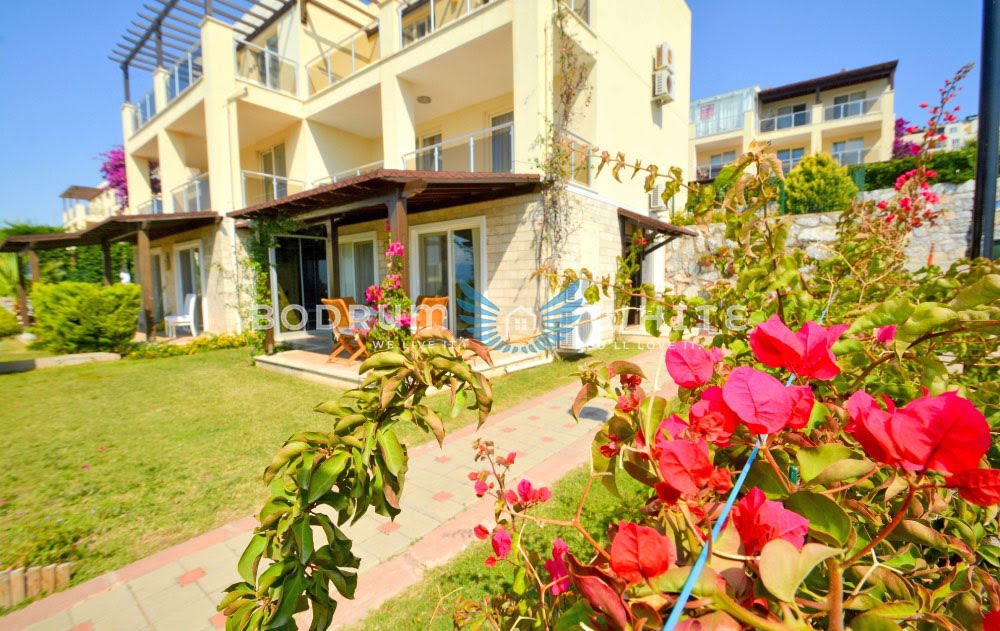 Bodrum Royal Heights 2 Bed Seaview Garden Apartment for Sale