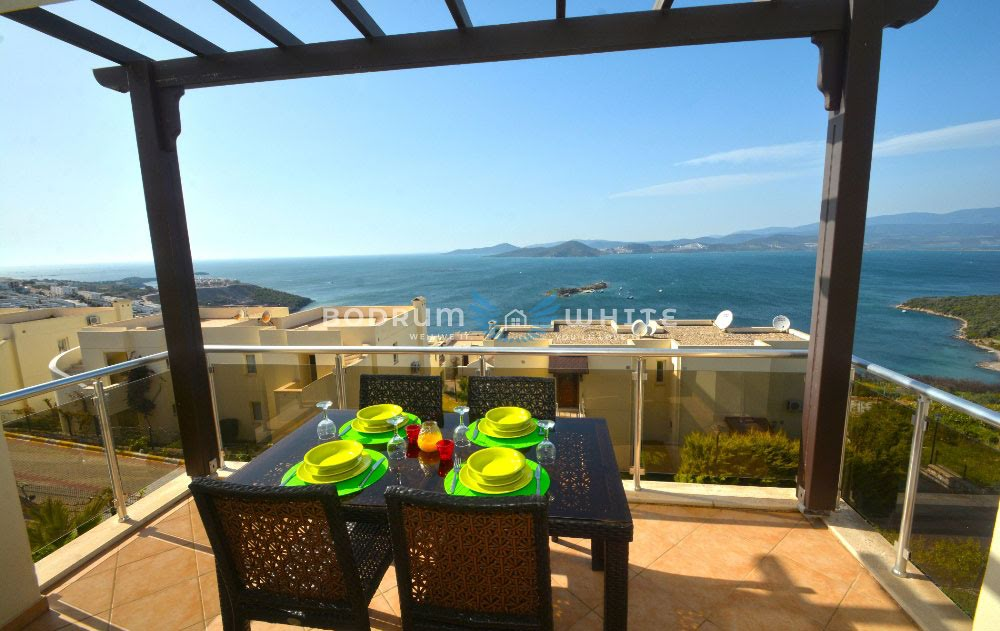 Bodrum Royal Heights 2 Bed Seaview Terrace Apartment for Sale